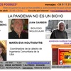 Logo LA PANDEMIA NO ES UN BICHO, Juan Garberi, Ernesto Rosenberg y  Xavier Huelmo.