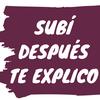 """Logo Resúmen de la semana de """"Subí, después te explico"""""""
