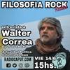"""Logo """"La tercera guerra mundial es por los puestos de trabajo"""", Walter Correa en Filosofía Rock"""