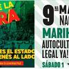 Logo #Invitaciónes x 2;  a la Marcha de la Gorra y 9°Marcha Nacional de la Marihuana 3C