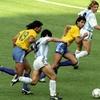 Logo A 30 años de Argentina Brasil en Italia 90