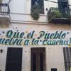 """Logo BOCA ES PUEBLO:  """"EL CLUB FUE FUNDADO POR EL BARRIO,PERO NUESTROS PIBXS NO PUEDEN DISFRUTARLO"""""""