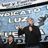 """Logo """"En nuestro distrito, Mariano Moreno, es la hora de los trabajadores y las trabajadoras"""""""