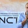 Logo PALABRAS DE CRISTIAN MIÑO - CONFED NAC DE COOPERATIVAS DE TRABAJO - 4N PLAZA DE MAYO