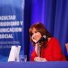 Logo @CFKArgentina #CristinaEnLaPlata presenta su libro, #Sinceramente. Sábado 31 de agosto