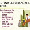 Logo Palabra de Francisco sobre el destino universal de los bienes.