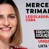 """Logo """"Vota a la izquierda que se une"""" Mercedes Trimarchi (Izquierda Socialista) Radio Del Pueblo"""