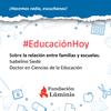 Logo Isabelino Siede habló en Educación Hoy sobre la relación entre familias y escuelas