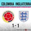 Logo Gol de Colombia: Colombia 1 - Inglaterra 1 - Relato de @laredneuquen