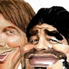 Logo Comparación Maradona Messi - Cherquis Bialo
