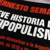 """Logo Ernesto Semán, historiador: """"Hoy en día el peronismo ,como partido, no representa a la gente""""."""