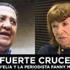 Logo FUERTE CRUCE entre Luis D'ELIA la periodista Fanny Mandelbaum.