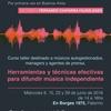 """Logo @SoyFernandoAbel habla de su taller """"El oído de los medios"""" en La Rocker. Prensa y difusión musical."""