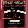 """Logo Medicina música es """"Día de la música junto a Jaime sin tierra"""""""