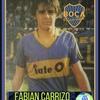 """Logo Fabian Carrizo """" me dio mucha pena que un ídolo como  @__CarlitosTevez  se haya ido de esta manera"""