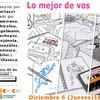 """Logo Muestra de historietas """"Lo mejor de vos"""" anunciada por la escritora y crítica Eugenia Almeida."""
