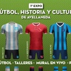 "Logo Expo ""Fútbol, Historia y Cultura"" nota a Federico Bonaldi Subsec Cultura,Artes y Espec de Avellaneda"