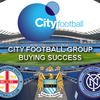 Logo  Dos grandes empresas que compran y crean clubes: City Football Group y Red Bull.