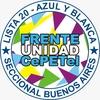 Logo Frente Unidad CePETel-Lista 20 Azul y Blanca