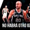 """logo Editorial JPV """"NO HABRÁ OTRO IGUAL"""" sobre el retiro de Emanuel Ginobili"""