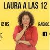 Logo Laura Donofrio es Laura a las 12. Con Sergio Burstein.Hoy Marga Wirkierman