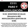 Logo Gabriela Piovano con Tomas Mendez contando acerca del paro y movilizacion de medicos del GCBA