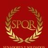 Logo Senadores y solados. República romana.