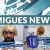 Logo Julio Cesar Migues Y Junio Riverman juntos aportando información sobre Edinson Cagani y los jabalíes