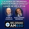 Logo La Hora de Moreno junto a Pablo Challu charla con Guillermo Siro de CEPBA. 3.1.2020