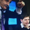 Logo Moreno:En la asamblea de Clarin Hable para Kicilloff.Guillermo Barona