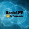 """Logo Columna de Social 21, La Tendencia para """"Nadie Se Atreva"""" (FM La Boca ). Desde Moreno: Ariana Baila."""