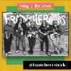 Logo Los Francheros en el piso de Radio Ensamble por Hay un Mañana