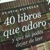 Logo AUDIO #40LibrosQueAdoro @flaviaPittella en @radiomitre @planetaLibrosArg