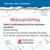 Logo  Educación Hoy: judicialización de las relaciones escolares