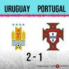 Logo Gol de Uruguay: Uruguay 2 - Portugal 1 - Relato de @970universal