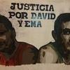 Logo Justicia por David y Ema, pedaleo de audiencias.