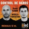 Logo #ControlDeDaños @dgannio y @NicolasFioren con la profecía Simpson argenta #VoluntarioDocenteNoAlParo
