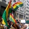 Logo Protesta en la embajada de Bolivia en Argentina #SabotajeInvestiga