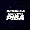 """Logo """"Pedaleá como una piba"""", las ciclistas que denuncian al machismo."""