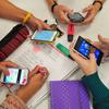 Logo Educación en Foco: El celular y la escuela- Carina Cabo.