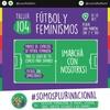 Logo El fútbol feminista tambien esta en el #EncuentroPlurinacional