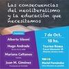 Logo 7 de octubre Charla: Las consecuencias del neoliberalismo y la educación que necesitamos
