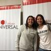 Logo Cobertura Mundial 970 AM. Valentina Morales y Angela Gómez con Celeste Femenino