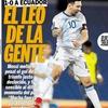 Logo Gol de Messi a Ecuador 1-0
