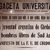 Logo Analizamos los 100 años de la #ReformaUniversitaria junto a Matías Caciabue