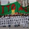"""Logo Flor de María Calderón H.I.J.O.S. Guatemala """"La lucha de nuestros viejos y viejas sigue vigente"""""""