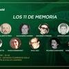 """Logo """"Los 11 de la memoria"""""""