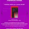 Logo Florencia Aroldi entrevistada x Jorgelina Traut acerca de su nuevo libro CELOSÍA