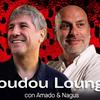 Logo BOUDOU LOUNGE. Con Amado Boudou y El Bosnio. Domingo 7 de marzo