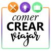 Logo Comer, crear, viajar